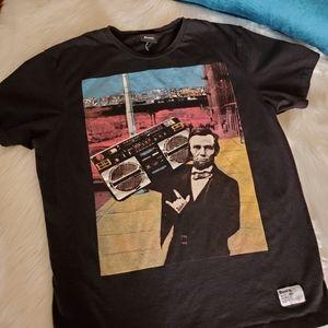 Bench Urbanwear Abe Lincoln Boombox Tee - L